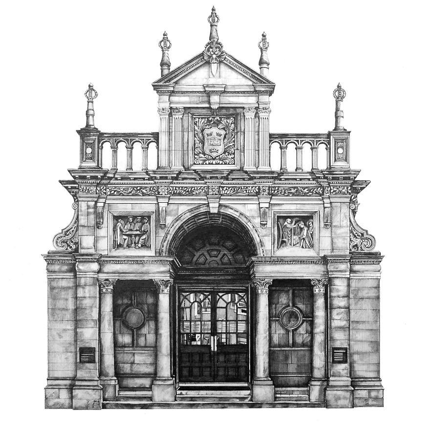 fotosolution-Pencil-Drawing-Photorealistic-Architectural-Drawing-of-Famous-European-Building-02