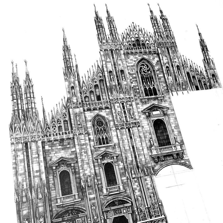 fotosolution-Pencil-Drawing-Photorealistic-Architectural-Drawing-of-Famous-European-Building-05