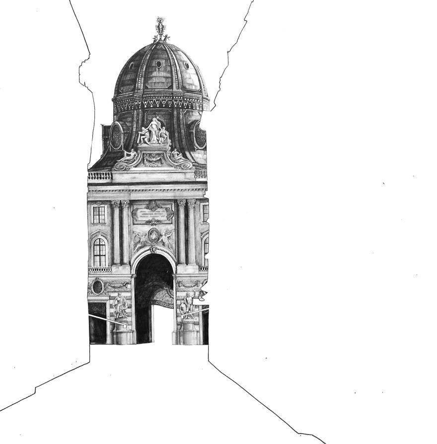 fotosolution-Pencil-Drawing-Photorealistic-Architectural-Drawing-of-Famous-European-Building-09