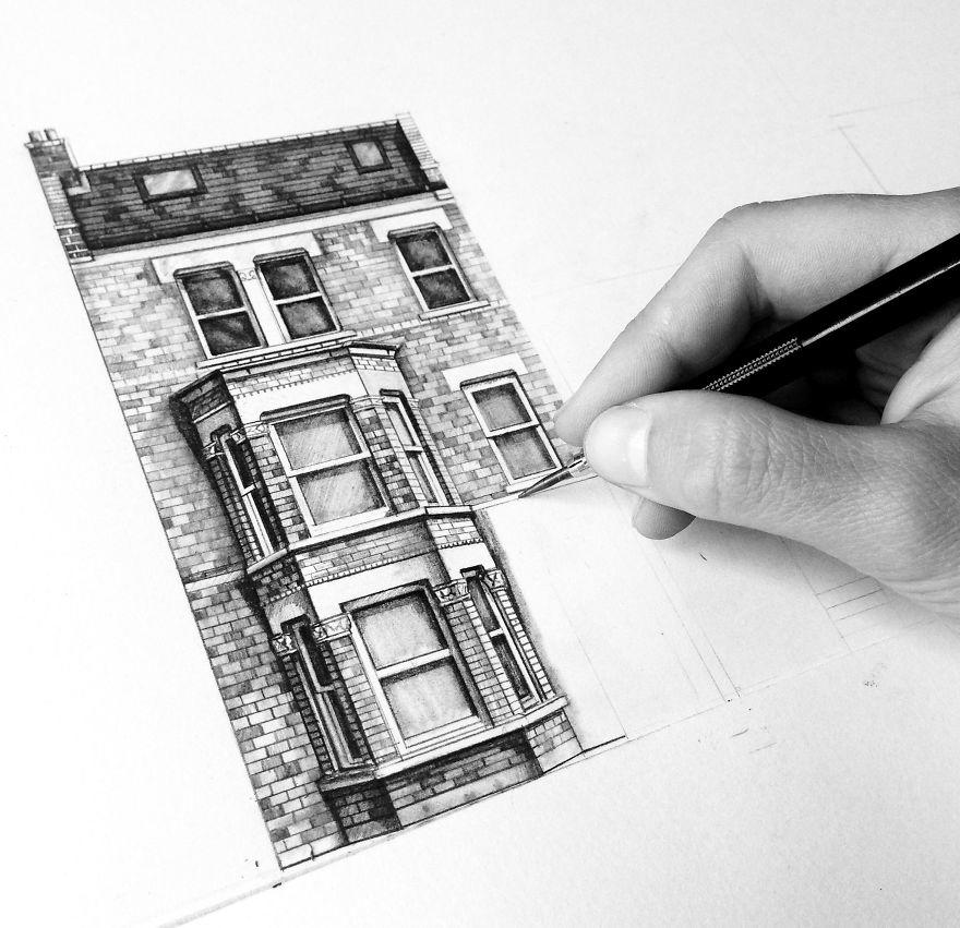 fotosolution-Pencil-Drawing-Photorealistic-Architectural-Drawing-of-Famous-European-Building-11
