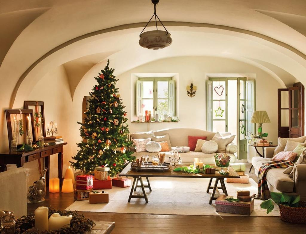 Beautiful Living Room Decorating For Christmas Holiday Fotosolution Com