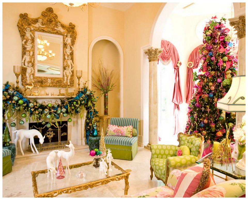 Fotosolution Beautiful Living Room Decorating For Christmas Holiday 19