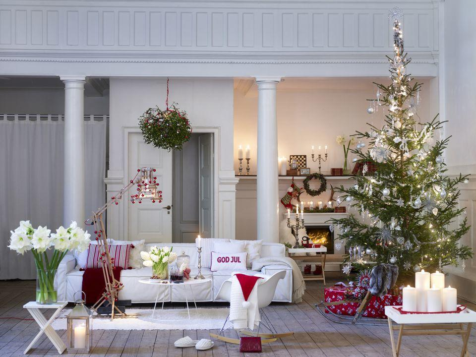 Fotosolution Beautiful Living Room Decorating For Christmas Holiday 22