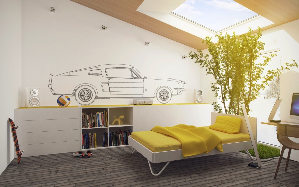 fotosolution-Yellow-Kids-Rooms-How-To-Use-And-Combine-Bright-Decor-14